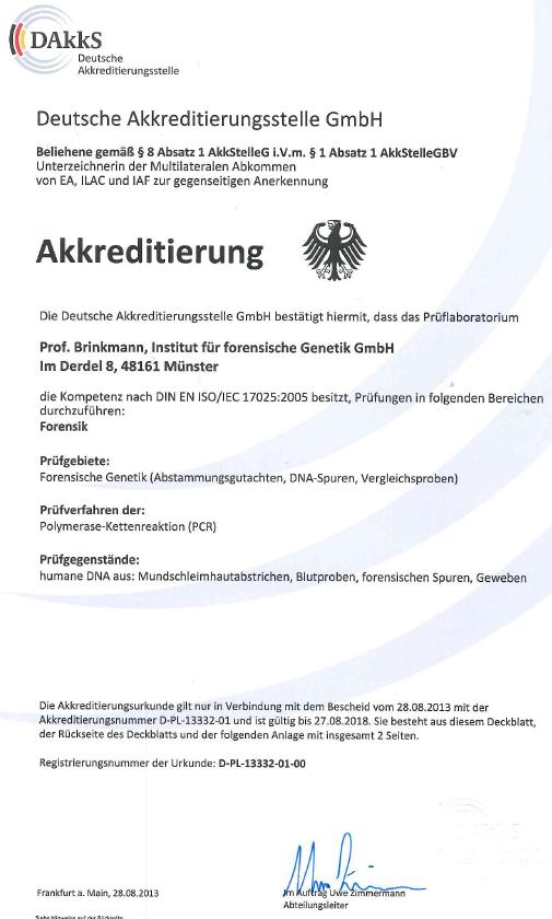 Akkreditierungs-Urkunde